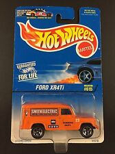 Rare ERROR Card Hot Wheels Ford XR4TI 615 95518 Smith Electric Land Rover 1996
