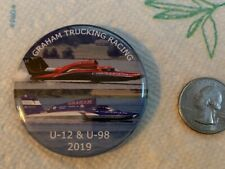 2019 Seattle Seafair Graham Trucking U-12 & U- 98 Hydroplane Pin Hydro Button