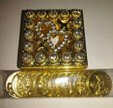 Wedding coin set in Gold color. Arras de Boda en color Oro. Anniversary coin's