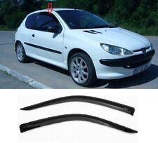 Fit For Peugeot 206 I 1998-2009 Hatchback 3 door Side Door Window Deflectors