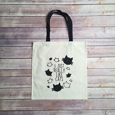 """I just really like cats!"" Artist Made Tote Bag 