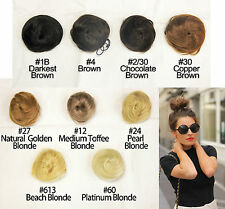 Brand New Human Hair Bun Extension Hairpiece Multi-Color for Up Style