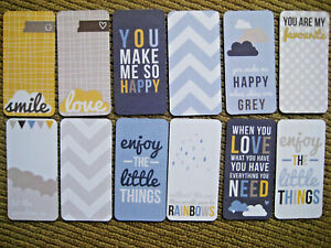 """' LIFE ' PROJECT LIFE CARDS - pack of 12 - 2"""" x 4"""""""