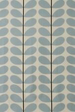Designer Orla Kiely Two Colour Stem Powder Blue Cotton Curtain Upholstery Fabric