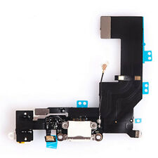 iPhone 5S Toma De Carga Dock Conector Audio Micrófono Cable Flexible blanco #424