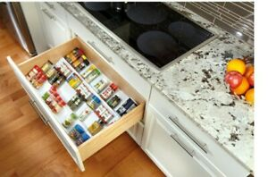 Rev-A-Shelf ST50-21W-52 Trimmable Universal Spice Drawer Insert Tray, White