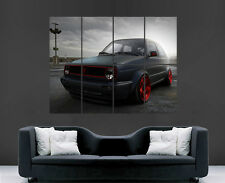 VW GOLF CAR POSTER TUNED VOLKSWAGON WALL ART PRINT IMAGE PICTURE GIANT HUGE