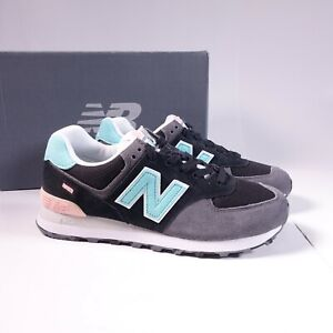 Size 8.5 Women's / Men's 7 WIDE 2E New Balance 574 Sneakers ML574UJC Black/Pink