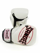 Sandee Cool-Tec White Leather Box 00006000 ing Gloves Muay Thai boxing gloves