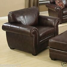 Brown Leather 3 Seater 2 Seater Armchair Footstool Sofa Suite Highbury 32 Chair