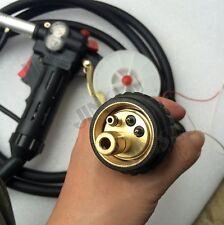 Toothed 10Ft Euro Adpator MIG Welder Spool Gun Wire Feed Feeder Aluminum Steel