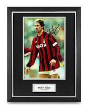 Franco Baresi Signed Photo Framed 16x12 AC Milan Autograph Memorabilia Display