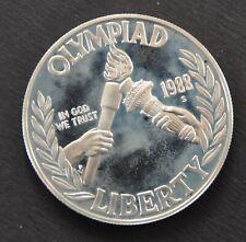 COIN - USA SILVER DOLLAR 1988 OLYMPIAD OLYMPIC TORCH