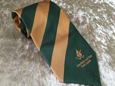 CHESTFIELD GOLF CLUB PAST CAPTAIN GOLF TIE - GREEN & GOLD STRIPE DESIGN - T10