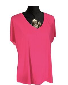 OLD NAVY Women's Active Go Dry Loose Fit Short Sleeves Shirt/Pink/Large/NWT