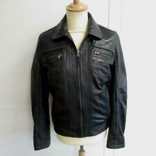 REDSKINS en cuir noir - TOP qualité manteau - veste homme - S