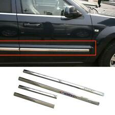 ABS Chrome Body Side Door Molding Cover Trim For Jeep Grand Cherokee 2005-2009