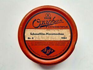 Ozaphan 16mm Schmalfilm Monatsschau Nr. 2 - 1934 Agfa Filmrolle made in U.S.A.