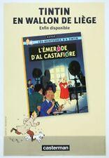 Affiche Offset Tintin Affiche publicitaire Tintin en wallon de Liège
