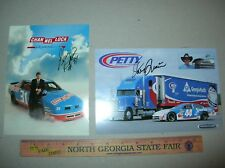 AUTOGRAPH NASCAR STEVE GRISSOM Promo signed postcard photo Channellock Petty