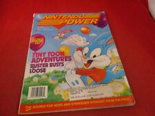 Nintendo Power Volume 46 Buster Busts Loose SNES Cover w/ Taz-mania Poster #C1