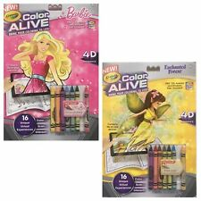 Crayola Color Alive Barbie & Enchanted Forest 4D Experience App Included Age 4+