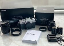 Fujifilm X-T20 Mirrorless Camera - (Silver) with XC 16-50mm and XF 35mmF2