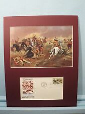 """Western Artist Charles M. Russell   - """"Fight for Supremacy"""" & First Day Cover"""