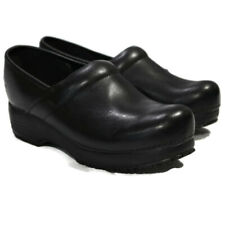 Skechers Work Womens Tone-Ups Clogs Shoe Slip Resistant Slip-On 10 Black Leather