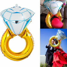 Diamond Rings Foil Helium Balloons Wedding Engagement Valentines DIY Decoration