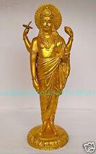 "Lord Dhanvantari for Ayurveda Healing  Avatar God Vishnu Hindu Brass Statue 12"""
