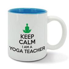 KEEP Calm and carry on YOGA TEACHER mental, spiritual practice exercise cup mug