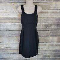 Express Size Small Dress Bodycon Black Sheath Exposed Zipper Stretch Womens Cute