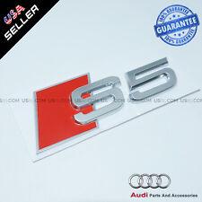 OEM ABS Nameplate Audi S5 Emblem 3D Silver Trunk Logo Badge Decoration Modified