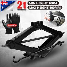 NEW 2000KG 2Ton Wind Up Scissor Jack Lift for Car Van Garage w/ Handle Emergency