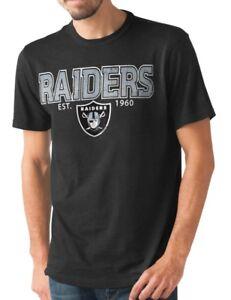 "Oakland Raiders NFL G-III ""Playoff"" Men's Dual Blend S/S T-shirt - Black"