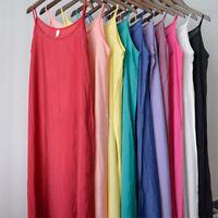 Full Slip Strappy Spaghetti Under Dress Cotton Petticoat Chemise Nightie Soft