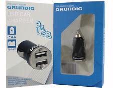 2,4A GRUNDIG Fast charger 2x USB Ladegerät KFZ Auto Ladeadapter Handy Lader