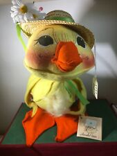 "Large 14"" Annalee Duck With Tag Straw Hat 1552"