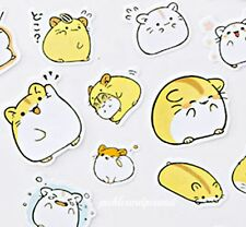 Hamster Stickers Self Adhesive Cute Kawaii Kids Childrens Cartoon Style