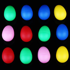 12x Color Plastic Percussion Musical Egg Maracas Shakers Children Kids Toys Gift