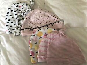 Lot Of 6 Infant Baby Girl 0-6 Month Hats Baby Gap Burt's Bees