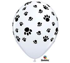 "PAW PRINT (12) 11"" Dog Cat Birthday Party Qualatex Latex  FREE SHIP"