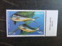 MALTA 2016 FISH OF THE MEDITERRANEAN MINT STAMP MNH
