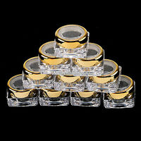 5-20pcs 5g PLASTIC Clear EMPTY POTS BOTTLES for NAIL ART CRAFT BEADS STORAGE