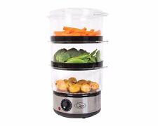 Quest Digital Electric 3 Tier / 400w 6L Food Steamer - Rice,Vegetables, Fish