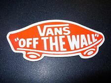 """VANS Skate Sticker Off The Wall Red Logo 4.25"""" shoes skateboards helmets decal"""
