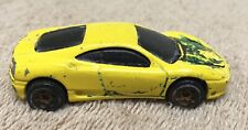 Hotwheels 1999 Mattel Ferrari 360 Modena Toy Diecast Vehicle Yellow Loose
