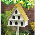 Three-Story A-Frame Wood Bird House