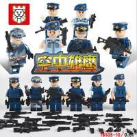Spielzeug Toys DIY Militär Soldaten Waffen Heer Marine Luftwaffe Baukästen 6PCS